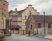 Sale 8751 - Lot 2026 - Joyce White - Old Town - Street Scene 28 x 38.5cm