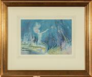 Sale 8770 - Lot 38 - Frederick Leist Watercolour, The Water Goddess, SLR, 24cm x 34cm