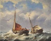 Sale 8813 - Lot 555 - Govert van Emmerik (1808 - 1882) - Nautical Scene 39.5 x 49cm