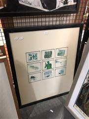 Sale 8819 - Lot 2130 - Framed Adam Flipp Artwork -