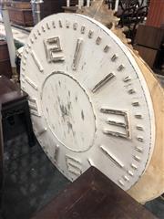 Sale 8822 - Lot 1844 - Large Timber Clock Face