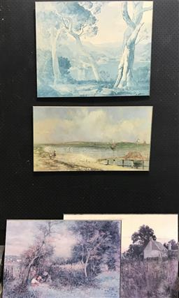 Sale 9103 - Lot 2079 - Collection of Mounted Prints incl McCubbin and Rees (4) -