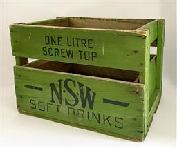 Sale 9142A - Lot 5062 - Vintage N.S.W Soft Drinks Crate, 33 x 43 x 30 cm