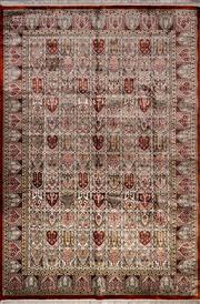 Sale 8447C - Lot 18 - Indian Silk & Wool 270cmx 182cm