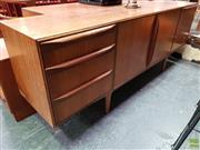 Sale 8585 - Lot 1020 - Quality Compact McIntosh Teak and Rosewood Sideboard