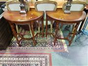 Sale 8657 - Lot 1046 - Pair of Timber Demi Lune Hall Tables
