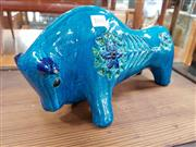 Sale 8684 - Lot 1045 - Bitossi Blue Glazed Italian Ceramic Bull