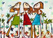 Sale 8723A - Lot 5006 - Janine Daddo (1959 - ) - Forever Friends 77 x 108cm (frame: 99 x 129cm)
