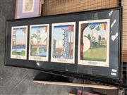Sale 8789 - Lot 2110 - Framed Quadryptic Chinese Artwork