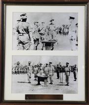 Sale 8994W - Lot 655 - Framed Photographic Print Of The Japanese Surrender To Australian Troops In New Guinea (48cm x 41cm)