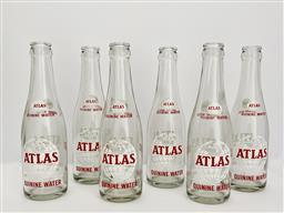 Sale 9142A - Lot 5063 - Set of (6) Vintage Quinine Water Bottles from Atlas Bottling Company, Detroit, Michigan