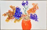 Sale 8382 - Lot 517 - Desiderius Orban (1884 - 1986) - Red Vase 62.5 x 98.5cm