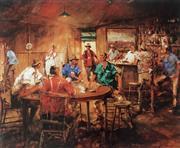 Sale 8659A - Lot 5022 - Hugh Sawrey (1919 - 1999) - The Four Deuces 63 x 74.5cm