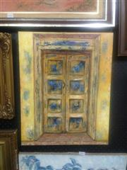 Sale 8655 - Lot 2044 - Stanley Perl - Doors of India 51 x 40.5cm