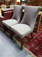 Sale 8669 - Lot 1038 - Set of Four Upholstered Dining Chairs with Button Detail