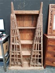 Sale 8700 - Lot 1014 - Rustic Timber Open Shelves