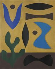 Sale 8722 - Lot 514 - John Coburn (1925 - 2006) - Song of the Blue Bird, 1982 68 x 51cm