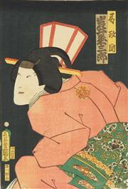 Sale 8777A - Lot 5006 - Toyokuni Utagawa III (1786 - 1865) - 37 x 24cm (frame: 53 x 42cm)
