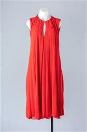 Sale 8782A - Lot 186 - A Gucci sleeveless panelled shift dress with keyhole cutout to décolletage, in burnt orange , size 44