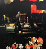 Sale 8791 - Lot 561 - Susan Norrie (1953 - ) - Be Seeing You (Portmeirion, Now) 2003 140.5 x 130.5cm