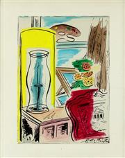 Sale 8839A - Lot 5047 - Roy de Maistre (1894 - 1968) - Studio Still Life 22 x 15cm