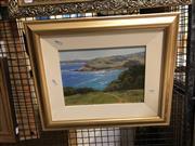 Sale 8861 - Lot 2049 - Trish Bennett - Killalea South Coast, Oil, SLR, 20.5x28.5cm