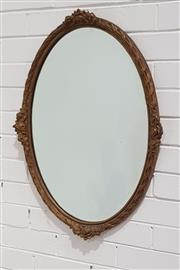 Sale 9063 - Lot 1089 - Victorian Oval Gilt Framed Mirror
