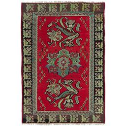 Sale 9124C - Lot 24 - Turkish Vintage Rose Kilim Carpet, 292x200 Cm, Handspun Wool