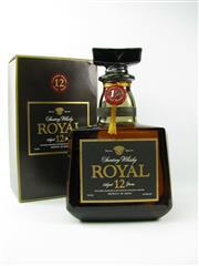 Sale 8329 - Lot 579 - 1x Suntory 12YO Royal Blended Japanese Whisky - 700ml in box