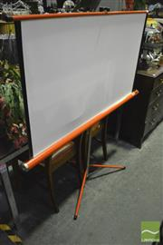Sale 8368 - Lot 1062 - Projector Screen on Tripod Stand