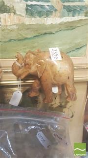 Sale 8396C - Lot 40 - Soapstone Carved Elephant Figure