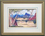 Sale 8427 - Lot 558 - Albert Namatjira (1902 - 1959) - Flinders Ranges 32.5 x 49.5cm