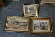 Sale 8441T - Lot 2007 - Various Artists - Collection of (3) Framed Paintings, various sizes