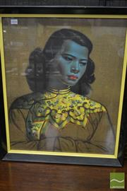 Sale 8528 - Lot 1016 - After Vladimir Tretchikoff - The Green Lady 60 x 50cm