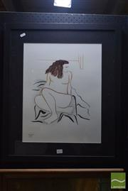 Sale 8541 - Lot 2071 - Graeme Gould Cool Clear Comfort Curling, Framed Mixed Media on Paper, signed