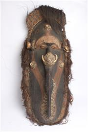 Sale 8689 - Lot 41 - Large Papua New Guinea Mask- Sepik River- Some losses
