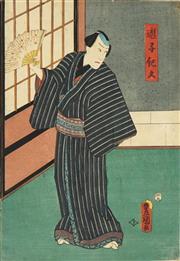 Sale 8777A - Lot 5007 - Toyokuni Utagawa III (1786 - 1865) - 36 x 25cm (frame: 53 x 42cm)
