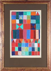 Sale 8819 - Lot 2027 - Rosemary Rust - Untitled (Abstract), 1981 48 x 30cm