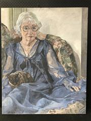 Sale 8953 - Lot 2041A - Tessa Schneider Blue Chiffon oil on canvas, 102 x 81cm, unsigned