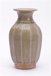 Sale 9015C - Lot 737 - Possibly Sawankhalok incised leaf design vase (H22cm)