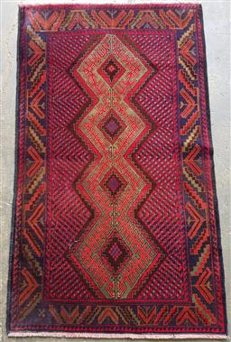 Sale 9154 - Lot 1018 - Hand-knotted pure wool Persian Baluchi (160 x 90cm)