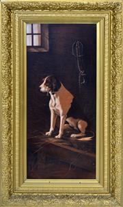 Sale 8349A - Lot 86 - E Yeldham (XIX - XX) - Dog Portraits, 1915 70 x 29.5cm