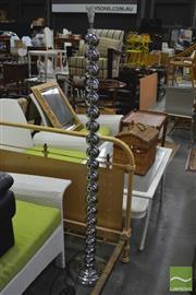 Sale 8398 - Lot 1081 - Chrome Standing Lamp