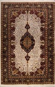 Sale 8447C - Lot 20 - Indian Silk & Wool 180cm x 275cm