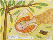 Sale 8504 - Lot 586 - Kerrie Lester (1953 - 2016) - Under the Tree 24.5 x 34cm