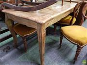 Sale 8562 - Lot 1056 - Oak Dining Table with Cabriole Legs (150cm)