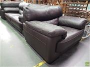 Sale 8589 - Lot 1013 - Three Piece Lounge Suite inc Three Seater and Two Armchairs