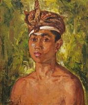 Sale 8652 - Lot 590 - Mary Edwards (1894 - 1988) - Gliboeg of Denpasar, Bali, 1939 48.5 x 41cm