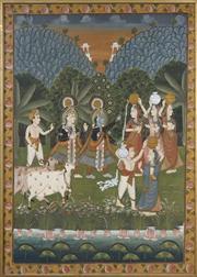 Sale 8716 - Lot 2031 - Indo Persian School - Ceremonial Scene 116.5 x 83cm