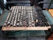 Sale 8723 - Lot 1071 - Set of Vintage Printers Blocks in Tray